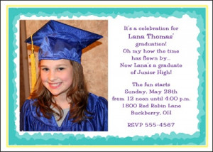 8th Grade Photo Graduation Invitations Announcement areBecoming Very ...