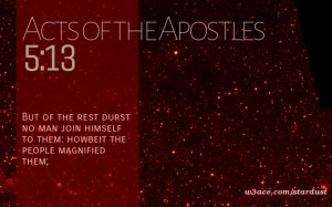 Bible Quote Acts of the Apostles 5:13 Inspirational Hubble Space ...