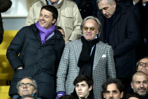 Diego Della Valle Major of Florence Matteo Renzi L with president of