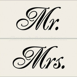Home > Wedding > Mr. and Mrs. 5.5x11.5 Stencils