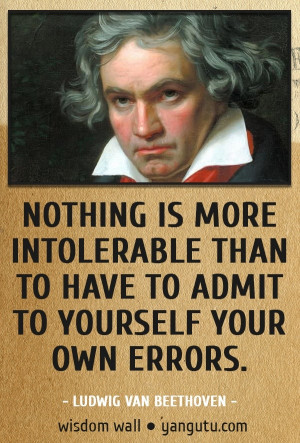 van beethoven wisdom wall quote # quotations # citations # sayings ...