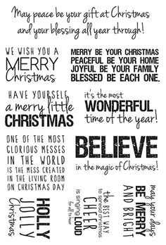 Save time pinning with this all-in-one #Christmas #Quotes stamp! More