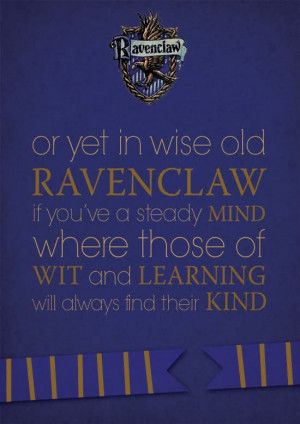 Ravenclaw Sorting Hat Quote