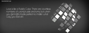 Love Is Like A Rubix Cube Quote Picture
