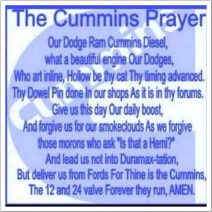 Dodge ram cummins prayer
