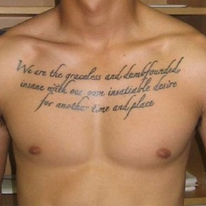 Cool Chest Tattoo Quotes For Men Pictures