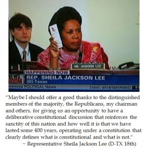 Clearly Defining Congresswoman Sheila Jackson Lee