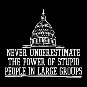 funny, groups, politics, power, quote, stupid, underestimate