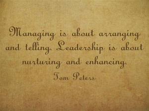 The difference between leadership and managing?