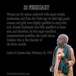 Srila Prabhupada Quotes For Month February 23