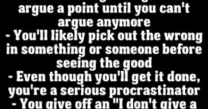 Especially the procrastination point.