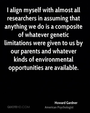 Howard Gardner Environmental Quotes