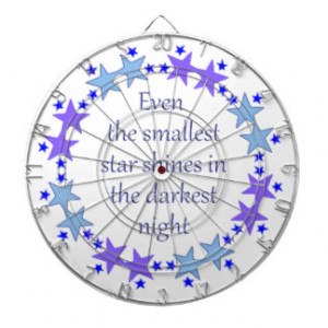 Smallest Star Inspirational Encouraging Quote Dartboard