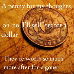 If i die young lyrics/ band perry/ a penny for your thoughts