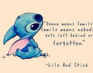 Ohana means family....Lilo and Stitch