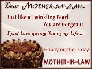 Dear Mother In Law, Just Like A Twinkling Pearl, You Are Gorgeous. I ...