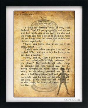 Peter Pan & Wendy Acorn Thimble Kiss Art Book Print - A3 or A4 Large ...