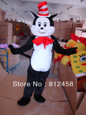 The Cat In The Hat Dr. Seuss Mascot Costume Classic Halloween Costumes ...