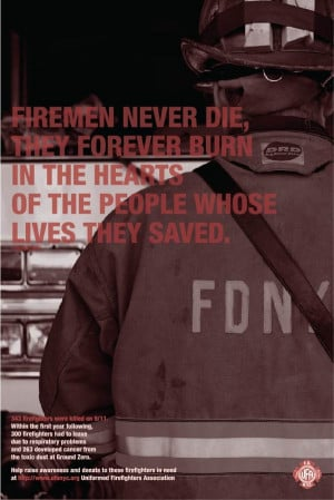 11 Remembrance poster dedicated to our firefighters