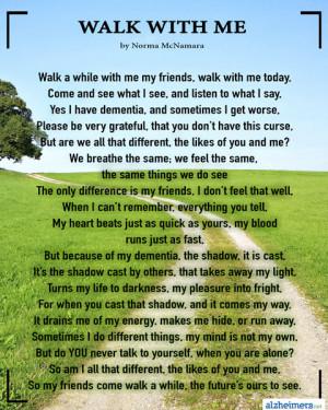 Poem: Walk With Me