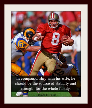 ... Young eluding defenders and a quote about fathers from James Faust