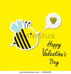 Cute Cartoon Bee And Speech