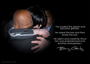 quote from Berry Gordy regarding Michael.