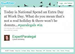 Paralegal Practice Tip: If you're going to make up a holiday for us ...