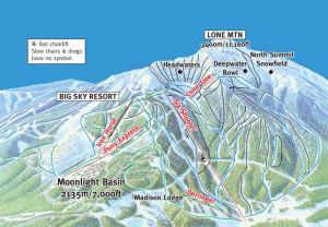 Big Sky Ski Resort Map