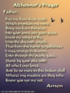 Poetry Alzheimers Disease   Pray for Alzheimers victims More