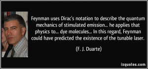 notation to describe the quantum mechanics of stimulated emission ...