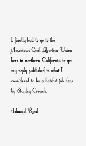 Ishmael Reed Quotes & Sayings