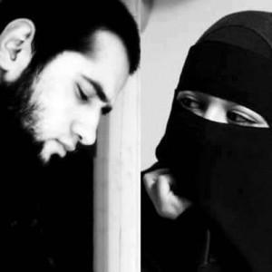 Home » Islamic Black and White Photos » Muslim Couple (Bearded ...