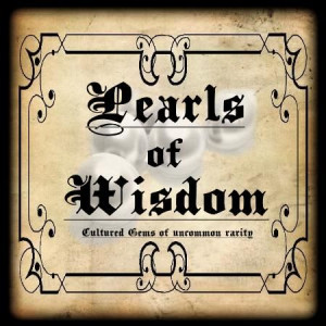Pearls of Wisdom label: Halloween Printable