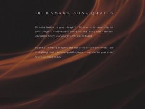 Spiritual quotes by Sri Ramakrishna wallpaper