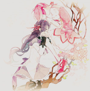 art anime edits manga pixiv color Homura Akemi Madoka Magica kaname ...