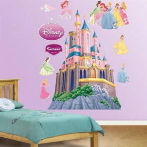 Fathead Disney Princesses Castle Wall Sticker - Wall Sticker Outlet