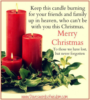 ... at Christmas for loved ones in heaven - miss my dad this Christmas