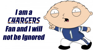 Family Guy's Stewie Griffin - Chargers Fan