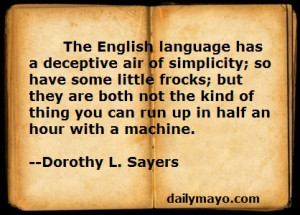 quote about english language