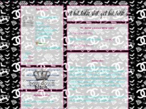 Scene Background - TALK SHIT MySpace Layout Preview