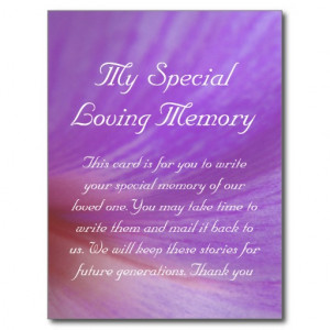 in memory of loved one