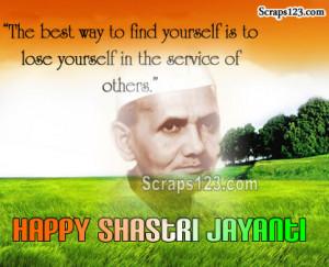 Shastri Jayanti Ki Shubhkamanye Image - 2