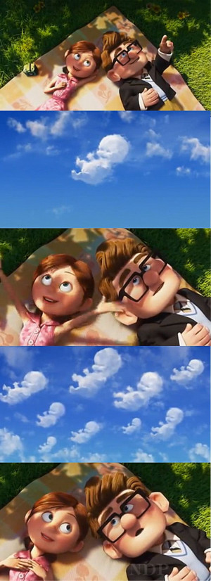 Up' Carl and Ellie cloud babies