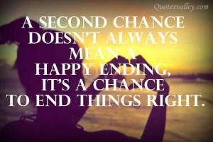 Second Chance Doesn't Always Means Happy Ending