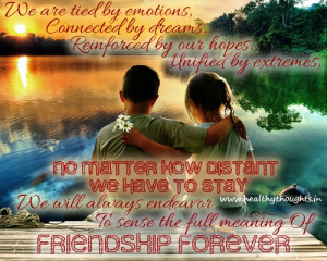 Friendship Quote-Distance Can Never Fade Our Friendship…