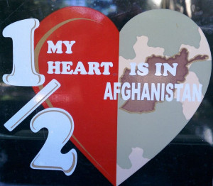 ... is in Afghanistan-window cling my husband gave me before he deployed