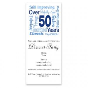 Over 50 years, 50th Birthday Invitations