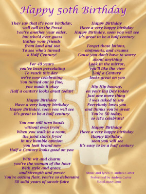 ... original song to celebrate a woman s 50th birthday happy 50th birthday