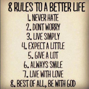 rules to a better life advice quotes